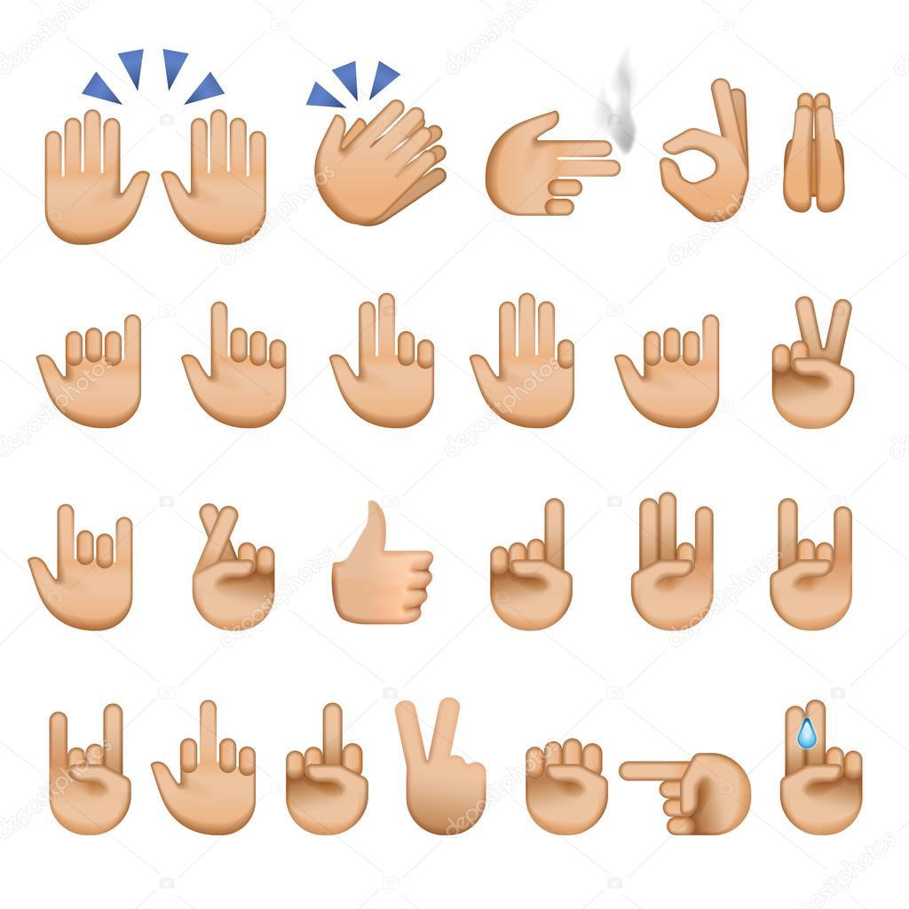 Set of hands icons and symbols emoji stock vector ikopylove set of hands icons and symbols emoji stock vector biocorpaavc
