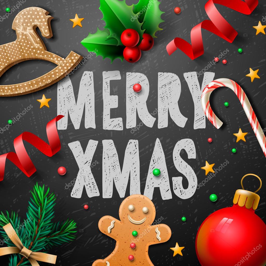 Frohe Weihnachten Männer Bilder.Frohe Weihnachten Festlich Hintergrund Mit Lebkuchen Männer Und