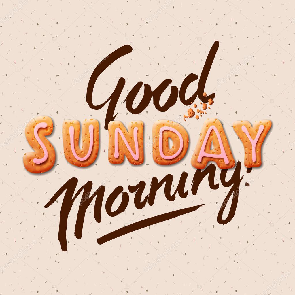 Good Morning Sunday Stock Vector Ikopylove 77109641