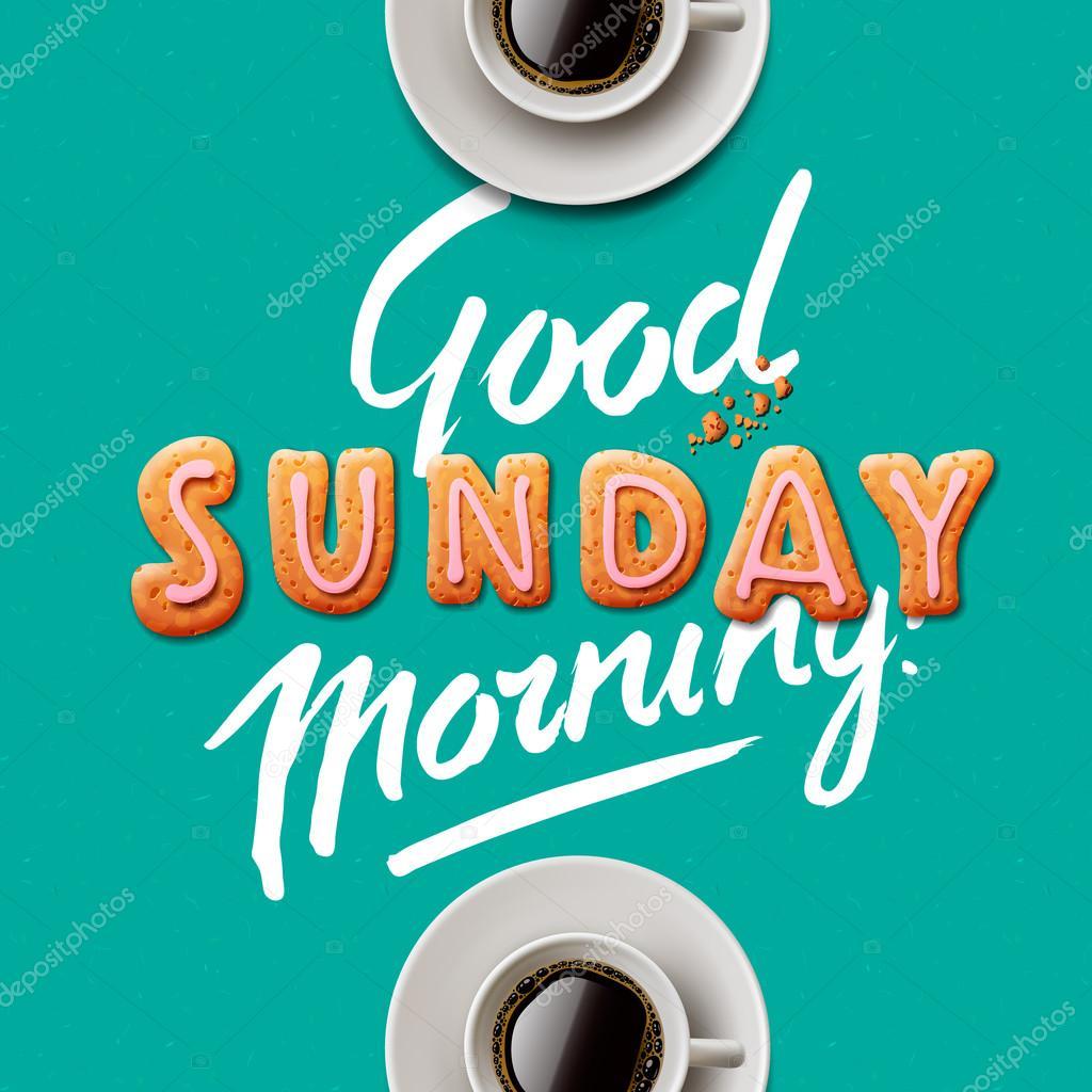 Good Morning Sunday Stock Vector Ikopylove 77119491