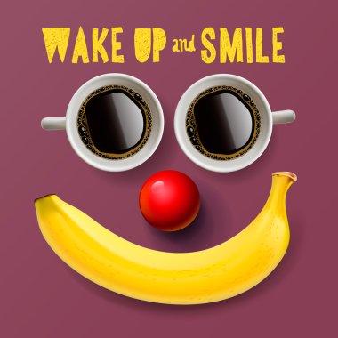 Wake up and smile, motivation background
