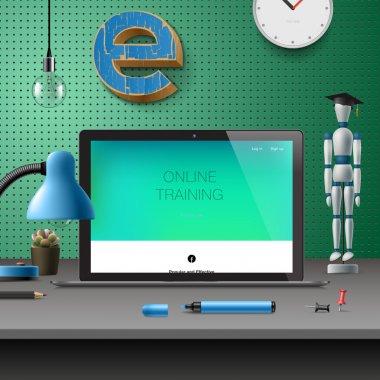 Training Development, online education concept
