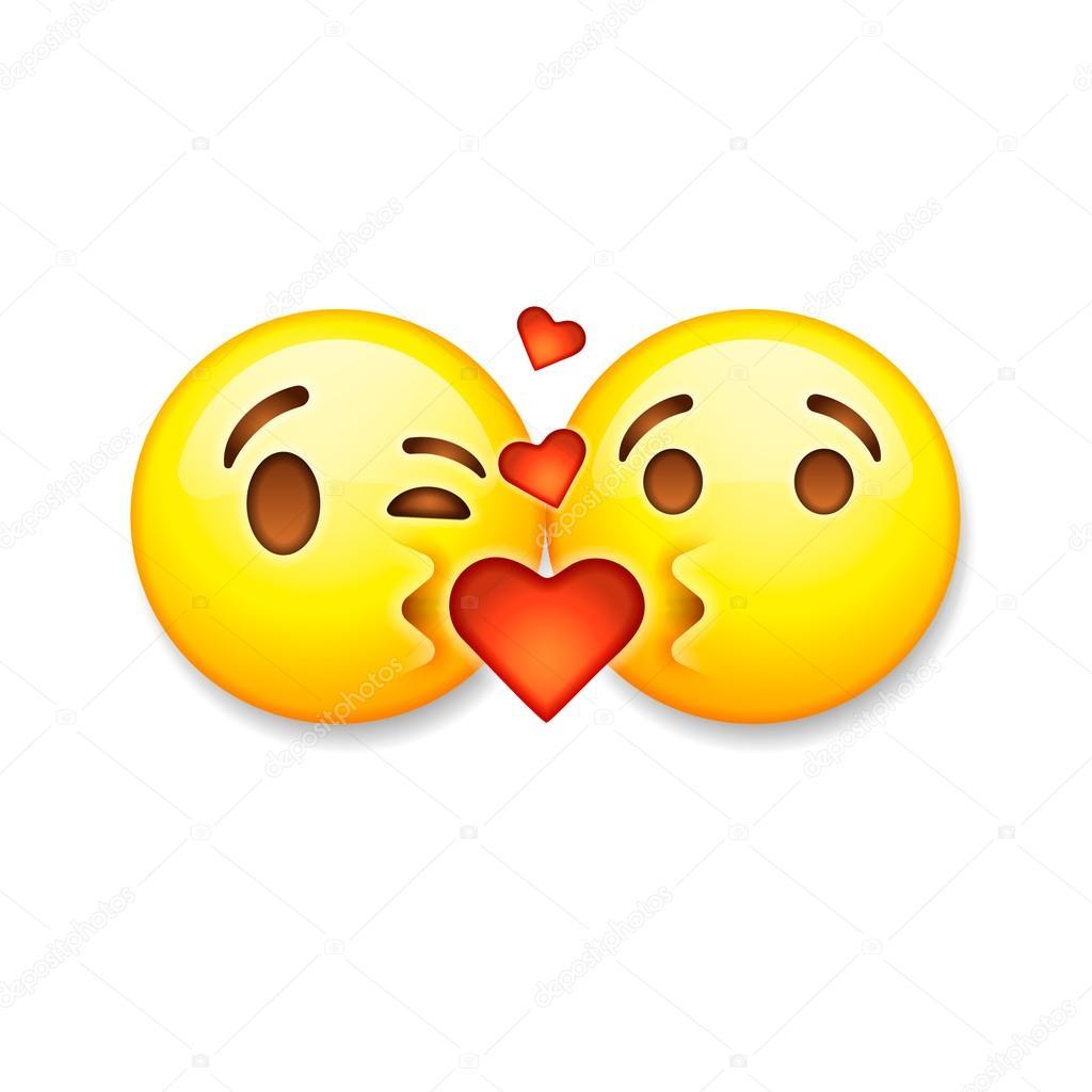 Love emoji icons | Kissing emoticons, Valentines day