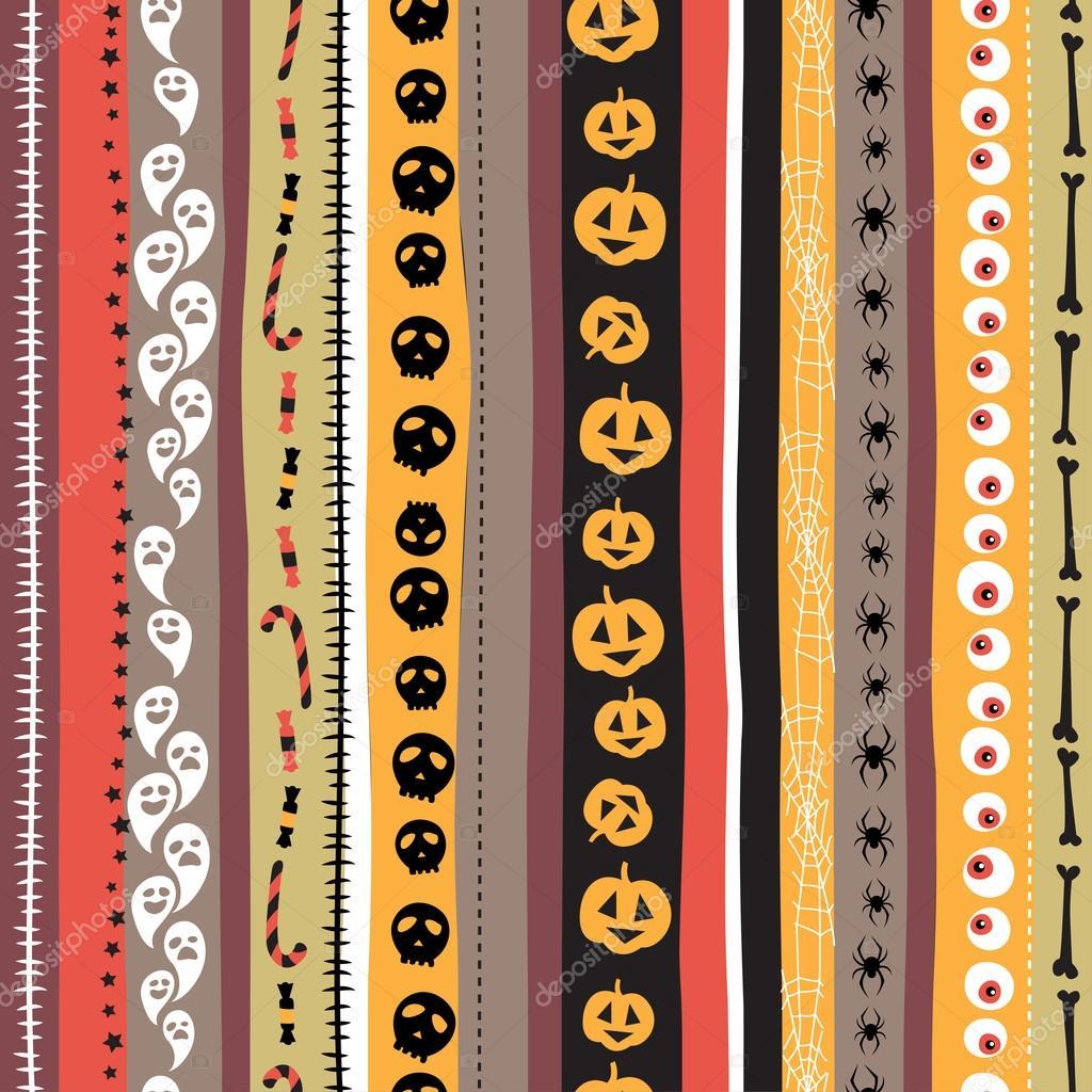 Nahtlose Muster Vintage Glückliche Halloween Wohnung Stil
