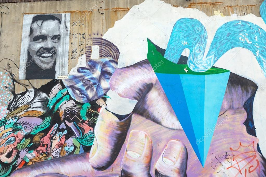 BUENOS AIRES, ARGENTINA - MAY 3: Colorful street art in Palermo