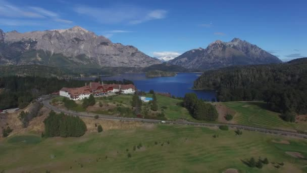 View from copter to the Villa Llao Llao, Bariloche, Argentina