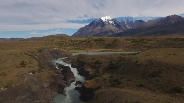 View from copter to the National Park Torres del Paine, Patagonia, Chile