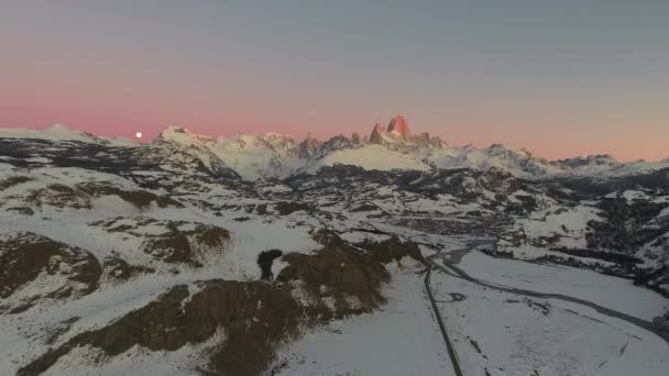 Aerial view from dron of Mount Fitz Roy, Los Glaciares National Park, Patagonia, Argentina