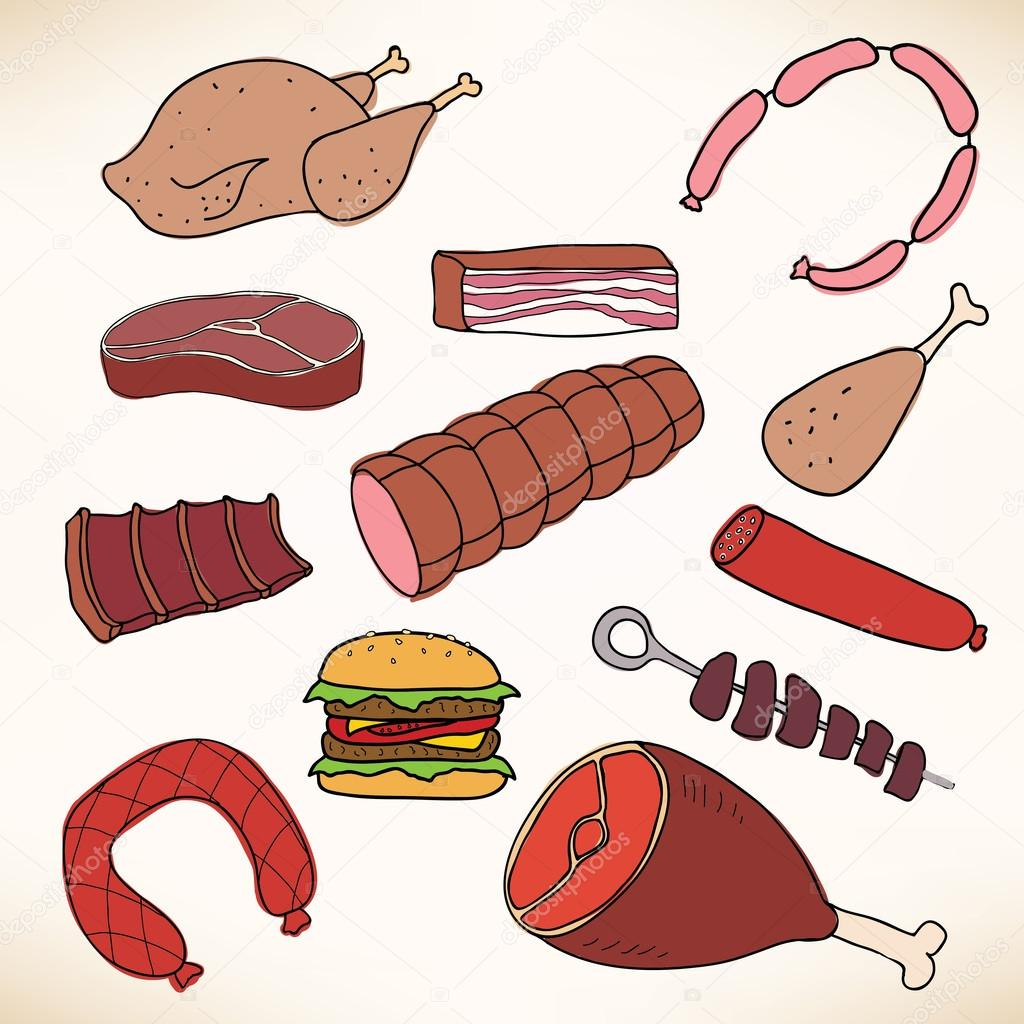 Vector meat and meat products