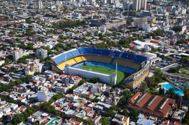 View from the helicopter for Buenos Aires, Boca Juniors Stadium,