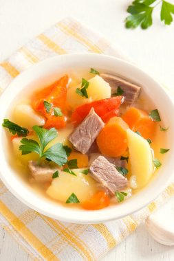 Meat and vegetables soup