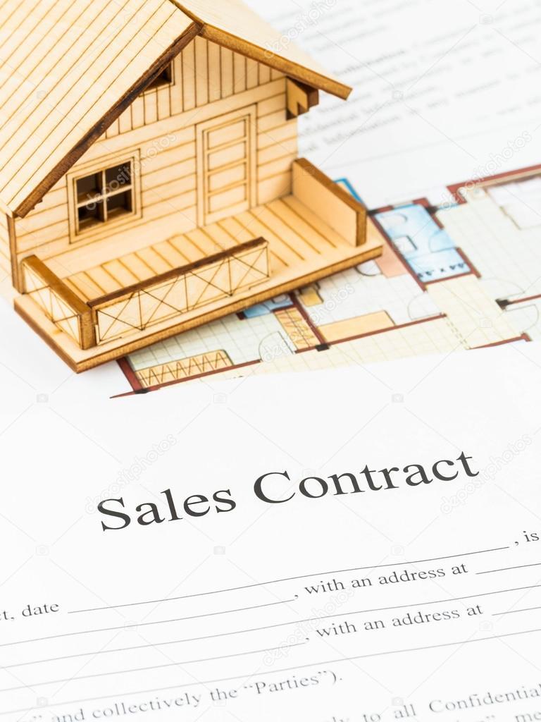 Mietvertrag mit Musterhaus — Stockfoto © wirojsid #60230555