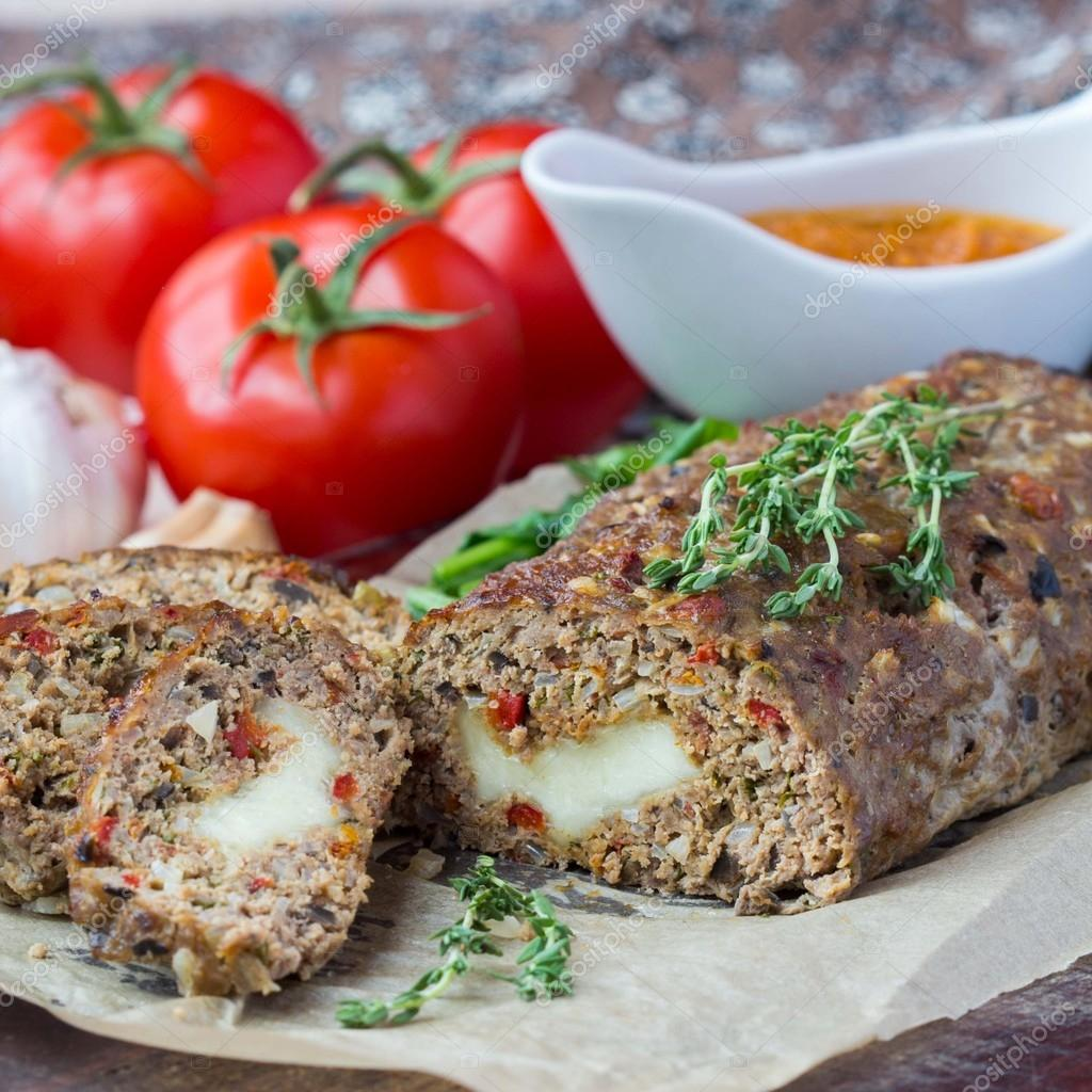 Mince meat roll or meat loaf 58