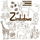 Photo Collection of Zimbabwe icons