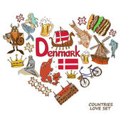 Fotografie Danish symbols in heart shape concept