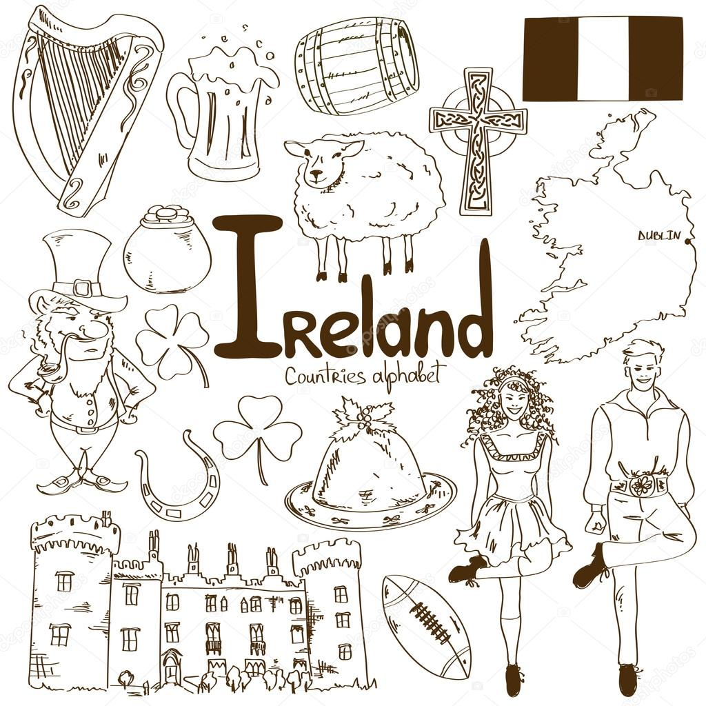 Collection of Irish icons