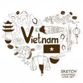 Fényképek Szív alakú fogalma vietnami szimbólumok