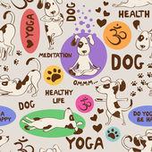 Fényképek Varrat nélküli mintát kutya csinál jóga pozíció