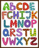 Children Alphabet With Cartoon Capital Letters.