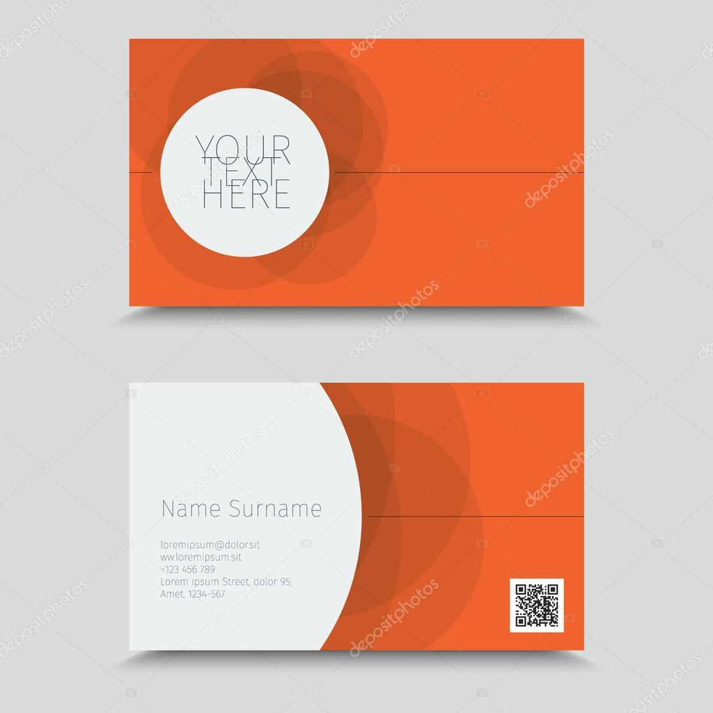 Visitenkarte Mit Qr Code Business Card Design