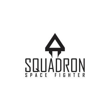 AEROSPACE FIGHTER SQUADRON PLANE logo design vector icon
