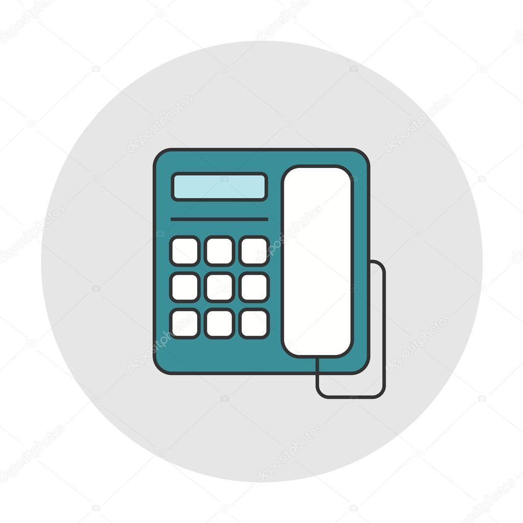 Icono de tel fono de escritorio de oficina vector de stock pixelalex 109122780 - Telefono de oficina de ryanair ...
