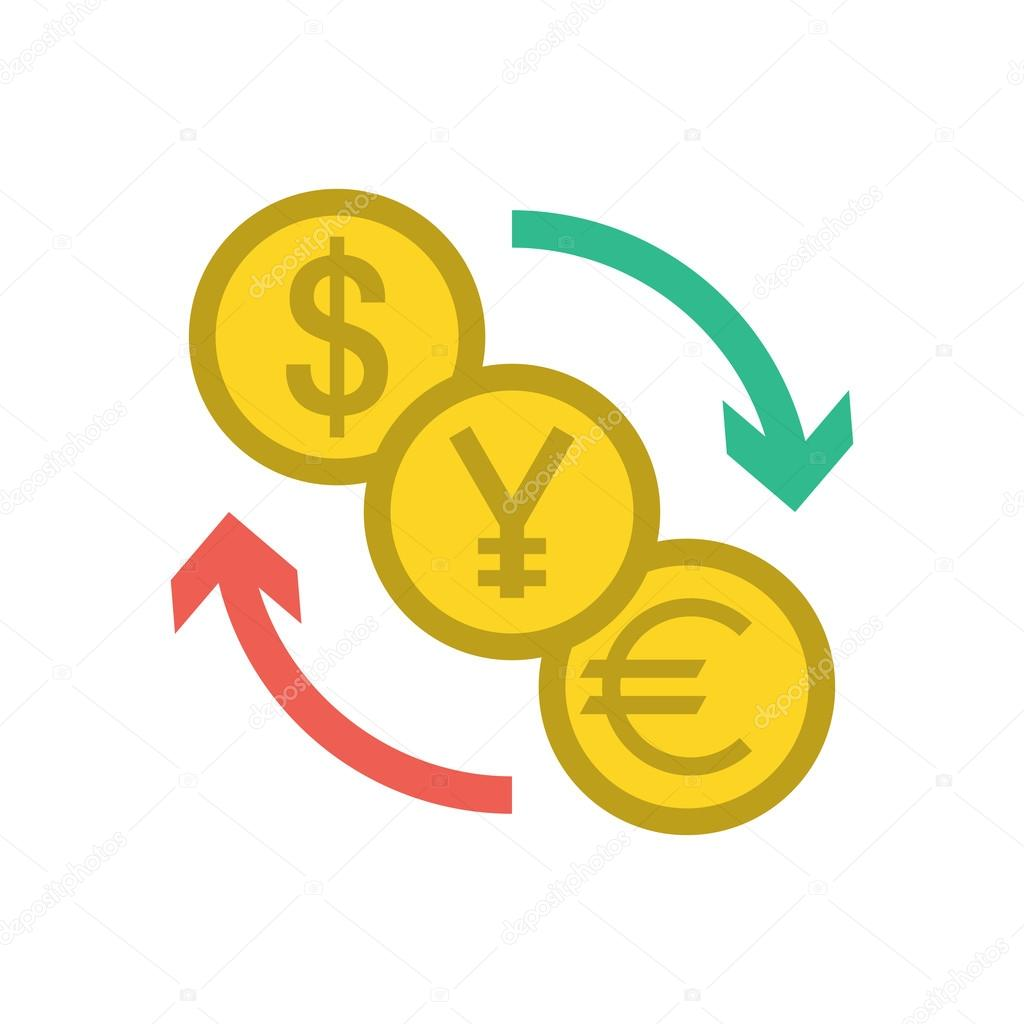 في سوق تجارة الفوركس Depositphotos_93630552-stock-illustration-currency-exchange-icon
