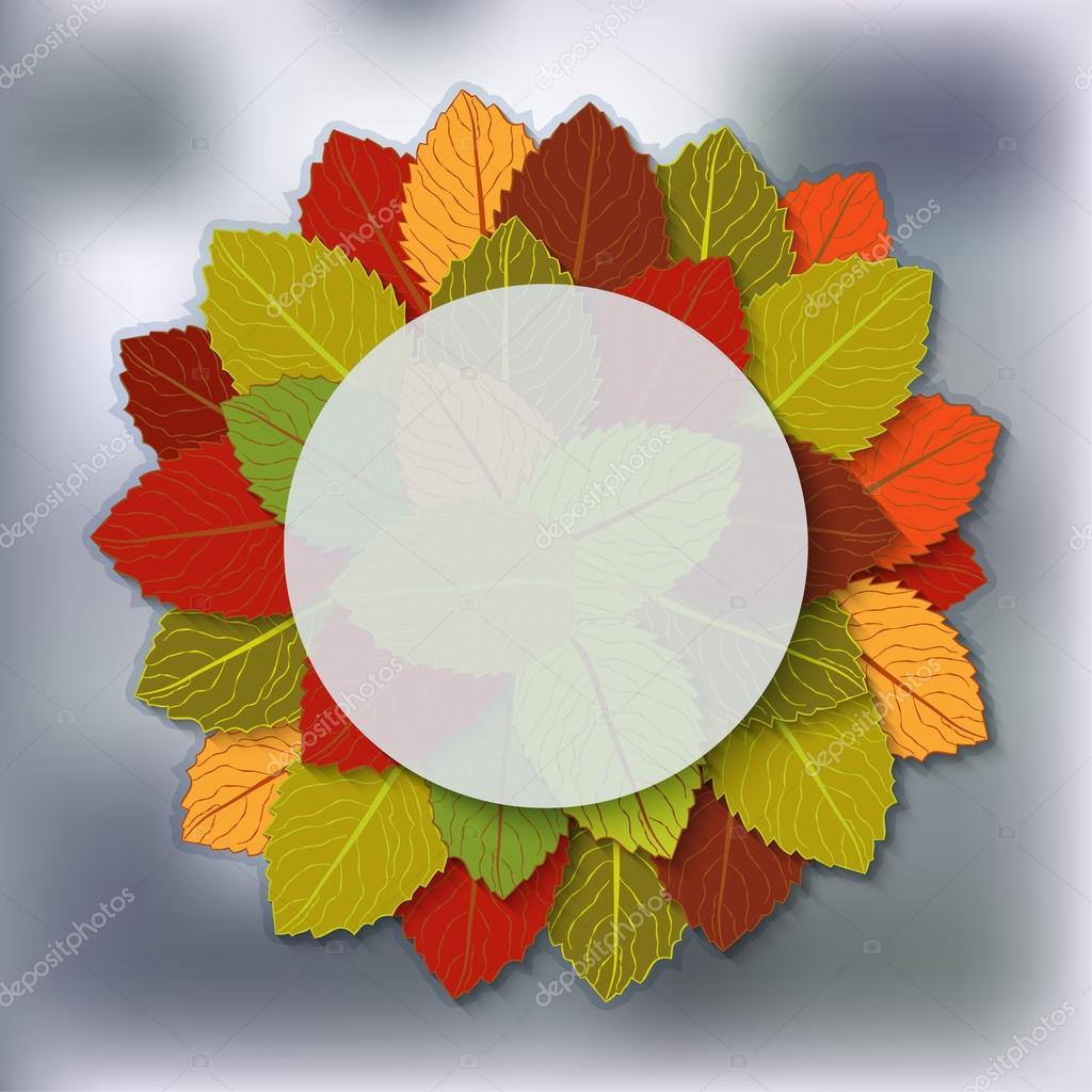 autumn foliage blurred background
