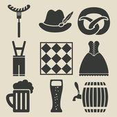 Fotografie Oktoberfest Bier Festival Symbole festlegen