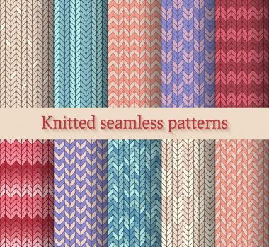 knitted seamless patterns set