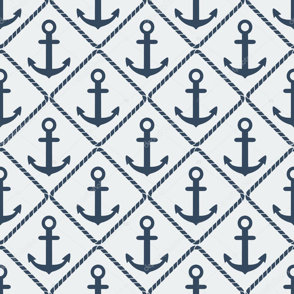 anchors seamless pattern