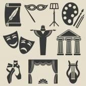 umění divadlo ikony nastavit