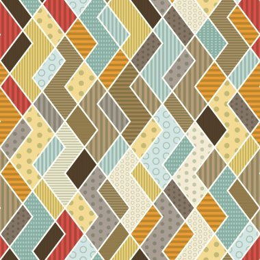 geometric patchwork pattern