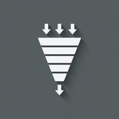Marketing funnel symbol