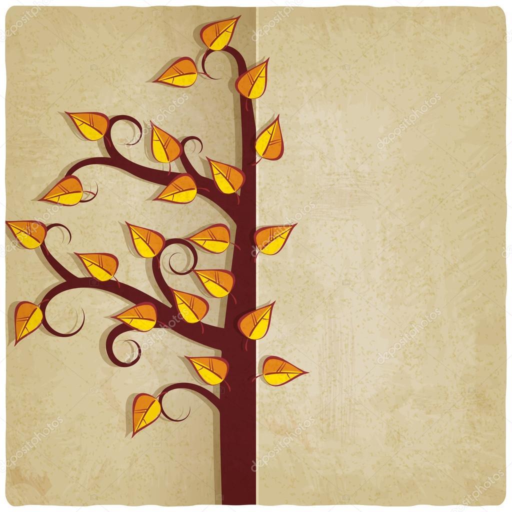 autumn tree old background