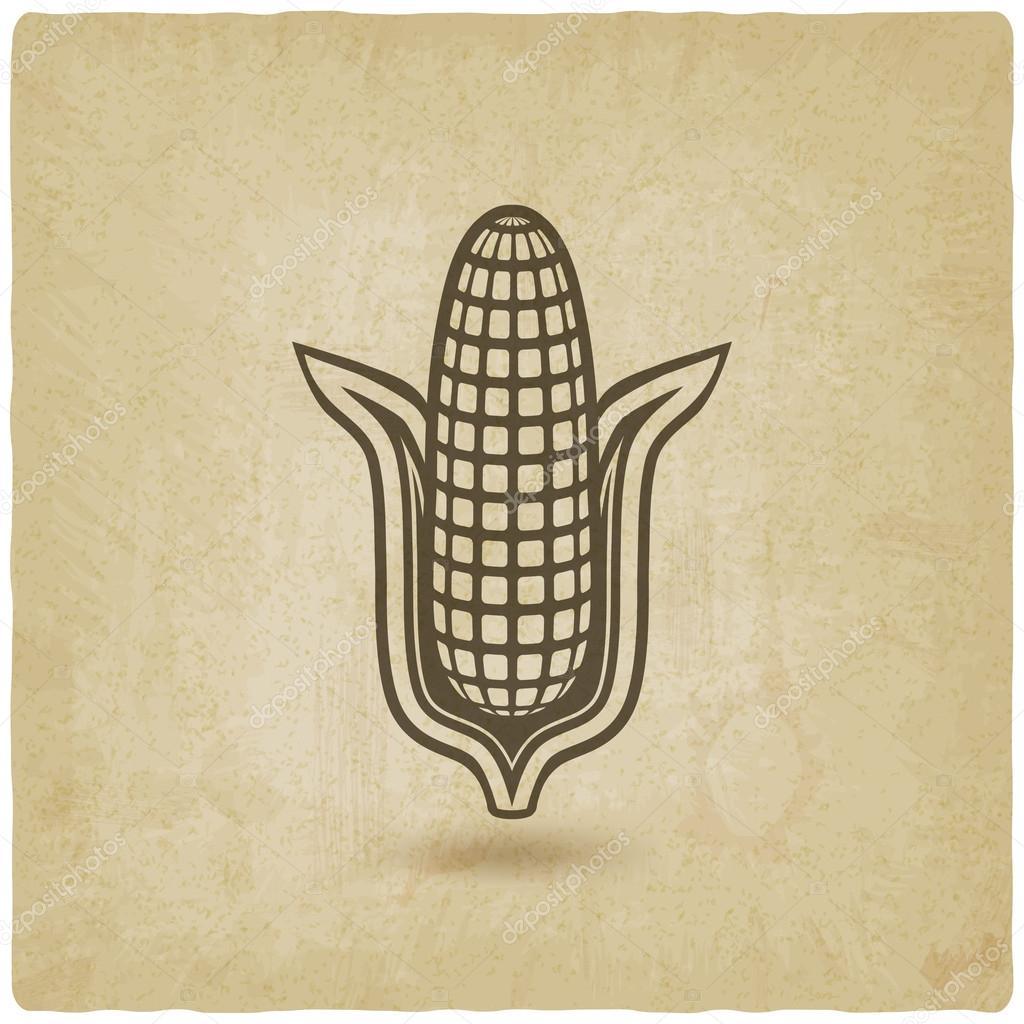 corn symbol old background