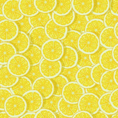bright lemon slices seamless pattern