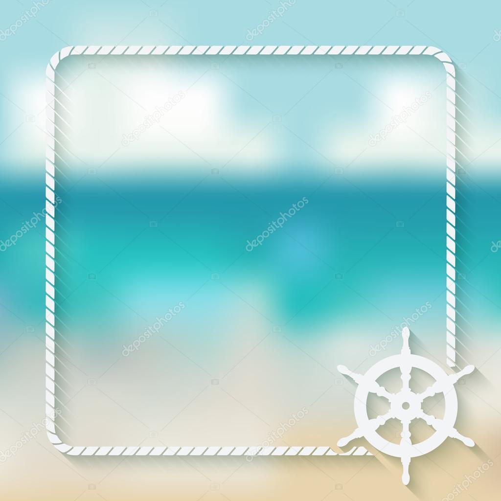 steering wheel marine background