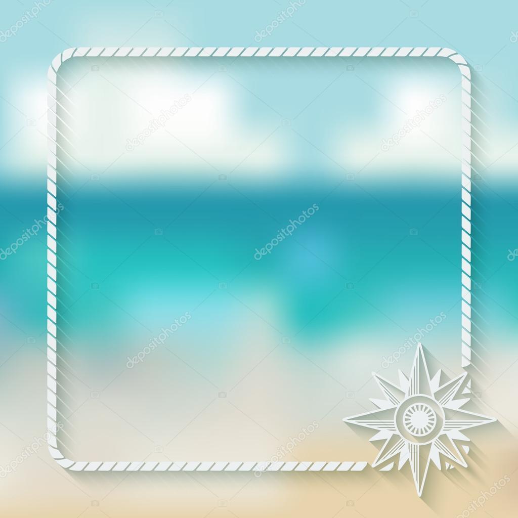 wind rose marine background