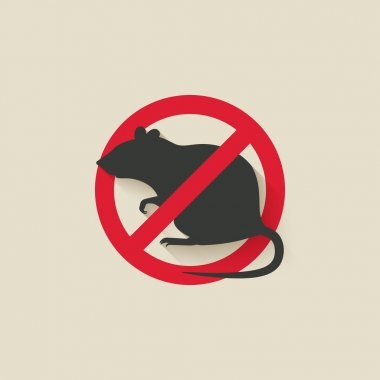 rat warning sign