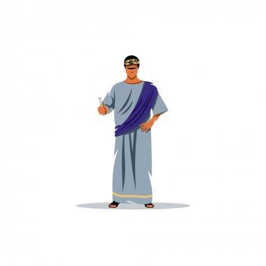 Roman philosopher. Vector Illustration.