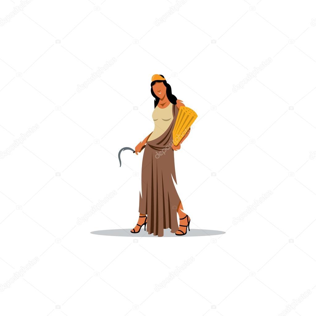 Demeter Sign Mythological Greek Goddess Of Fertility And