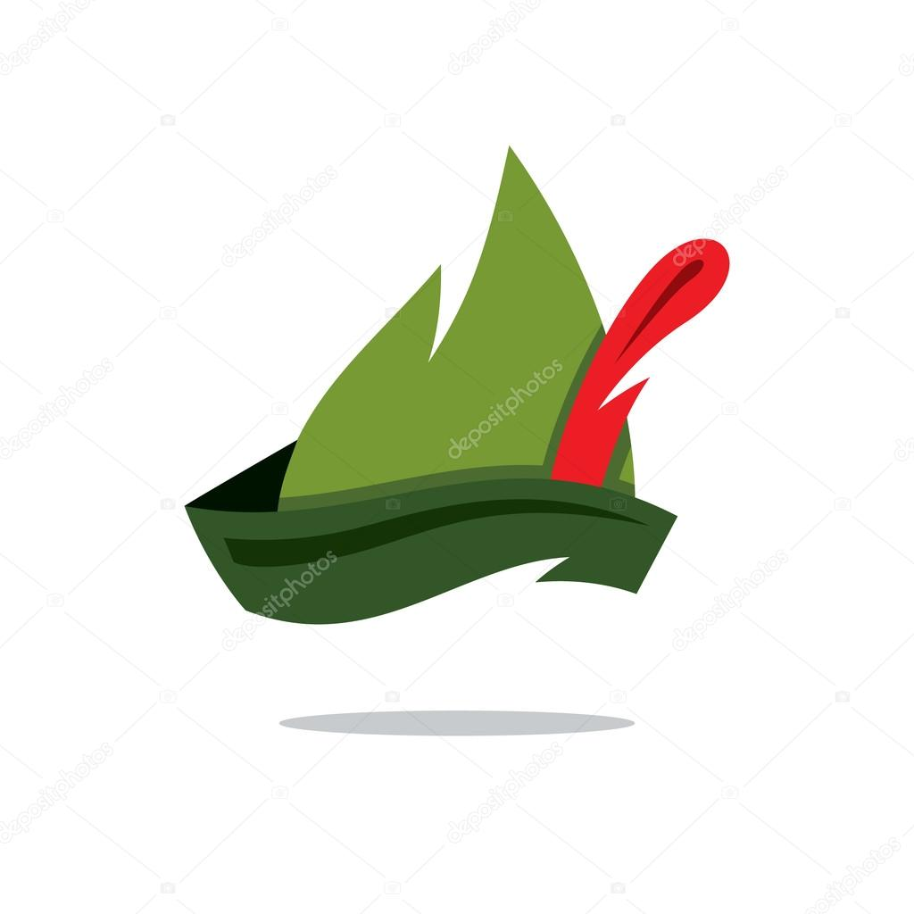 Robin Hood Hut Cartoon Vektorgrafik Stockvektor C Steinar14 115063154