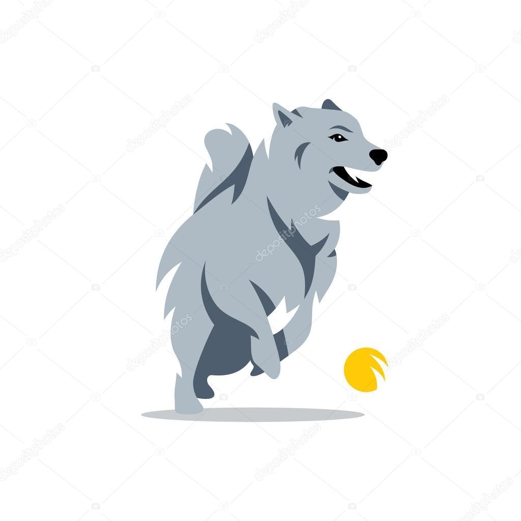 ベクトル ハスキー犬漫画イラスト ストックベクター Steinar14