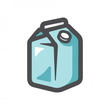 Milk carton box Isolated on a white background icon