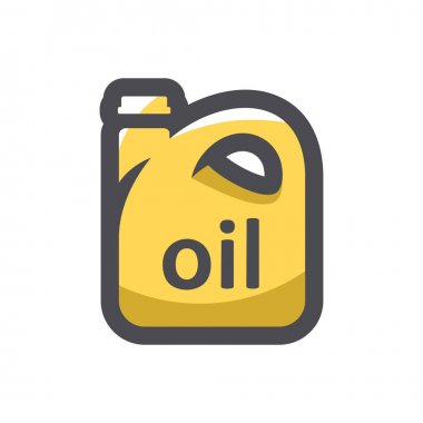 Oil yellow Can Isolated on a white background icon
