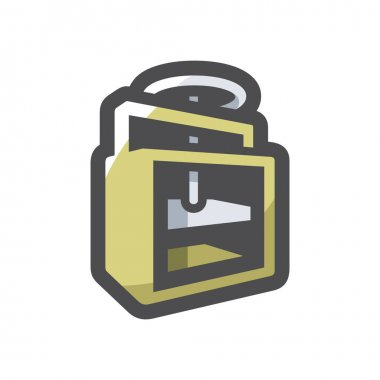 Press waste paper Isolated on a White Background icon