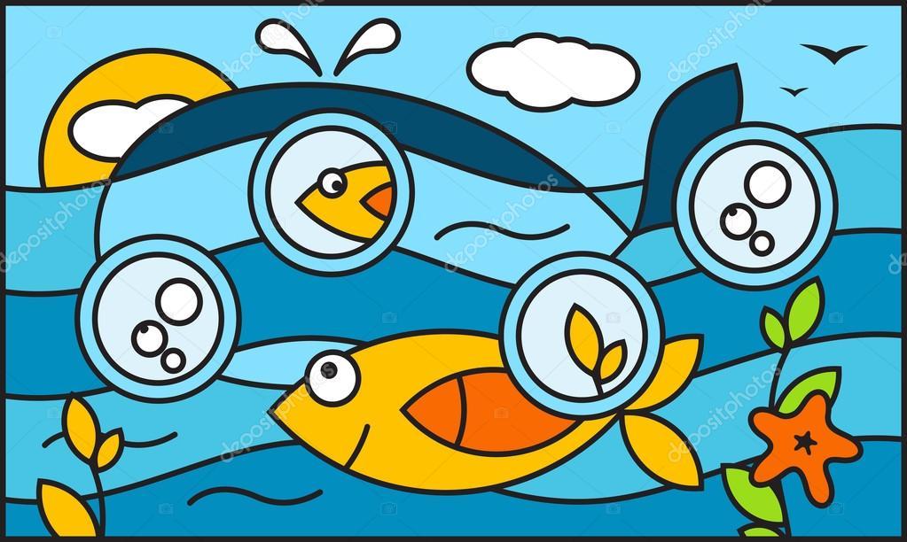 Underwater world background