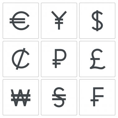 Currency icon collection