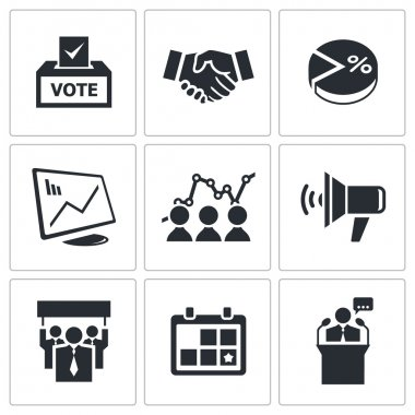 Political Election Icons collection